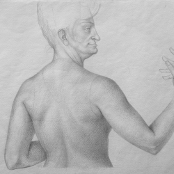 Lady. 2004. Graphite pencil on paper. 32x41,5 (12 5/8 x 16 1/4 in) // Жінка. 2004. Папір,олівець. 32x41,5