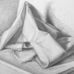 Drapery-3. 2003. Graphite pencil on paper. 29,7x42 (11 7/8 x 16 1/2 in) // Драпіровка-3. 2003. Папір,олівець. 29,7x42