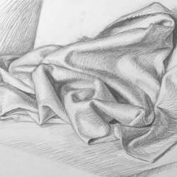 Drapery-5. 2003. Graphite pencil on paper. 29,7x42 (11 7/8 x 16 1/2 in) // Драпировка-5. 2003. Папір,олівець. 29,7x42