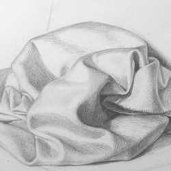 Drapery-7. 2003. Graphite pencil on paper. 29,7x42 (11 7/8 x 16 1/2 in) // Драпіровка-7. 2003. Папір,олівець. 29,7x42