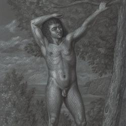 The drawing of the boy. 2012. Paper, pastel. 29,7 x21 (11 7/8 x 8 1/4 in) // Малюнок хлопця. 2012. Папір, пастель. 29,7x21