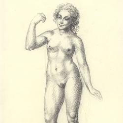Eve – 1. 2012. Paper, pastel. 30x20,5 (11 7/8 x 8 1/8 in) // Єва – 1. 2012. Папір, пастель. 30x20,5