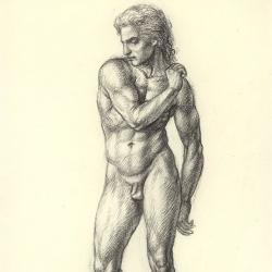 Adam. 2012. Paper, pastel. 30x20,5 (11 7/8 x 8 1/8 in) // Адам. 2012. Папір, пастель. 30x20,5