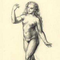 Eve – 2. 2012. Paper, pastel. 30x20,5 (11 7/8 x 8 1/8 in) // Єва – 2. 2012. Папір, пастель. 30x20,5
