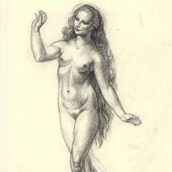 Eve – 3. 2012. Paper, pastel. 30x20,5 (11 7/8 x 8 1/8 in) // Єва – 3. 2012. Папір, пастель. 30x20,5