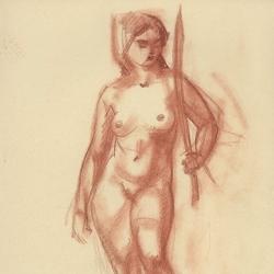Judith – 1. 2010. Paper, sanguine. 30x21 (11 7/8 x 8 1/4 in) // Юдита – 1. 2010. Папір, сангіна. 30x21