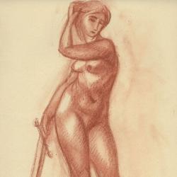 Judith – 2. 2010. Paper, sanguine. 30x21 (11 7/8 x 8 1/4 in) // Юдита – 2. 2010. Папір, сангіна. 30x21