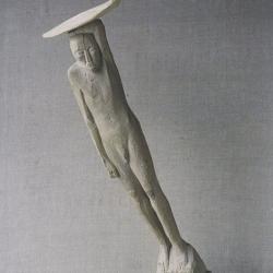Warrior. 1996. Wood. Height 90 cm (H - 35 1/2 in)  // Воїн. 1996. Дерево. Вис. 90 см