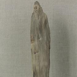 Hermit. 1996. Wood. 35x9x21,5 (35 x 3 1/2 x 8 1/2 in) // Пустельник. 1996. Дерево. 35x9x21,5