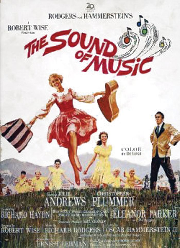 "Poster to the movie ""The Sound of Music"" (1965, USA). Directed by Robert Wise // Афіша до кінофільму «Звуки музики» (1965, США). Режисер Роберт Вайз"