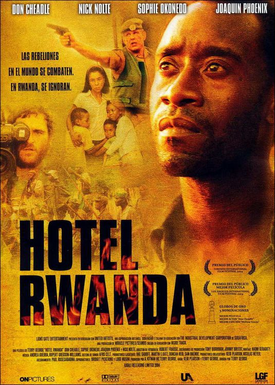 "Poster to the movie ""Hotel Rwanda"". 2004 // Афіша до кінофільму «Готель «Руанда». 2004"