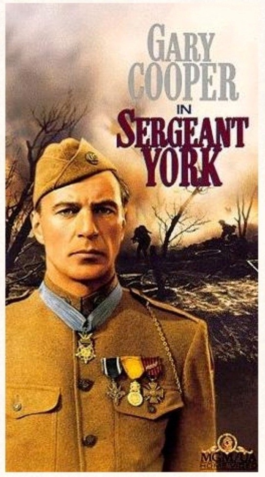 "Poster to the movie ""Sergeant York"" (1941, USA). Directed by Howard Hawks // Афіша до кінофільму «Сержант Йорк» (1941, США). Режисер Говард Гоукс"