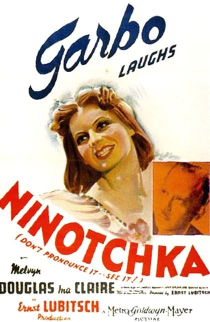 "Poster to the movie ""Ninotchka"" (1939, USA). Directed by Ernst Lubitsch // Афіша до кінофільму «Ніночка» (1939, США). Режисер Eрнст Любич"
