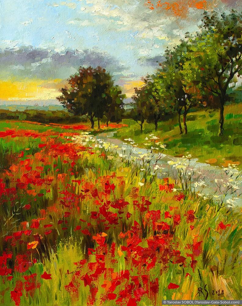 Impressionistic Landscape Oil Painting